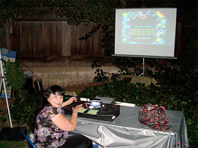 MAME projected outdoors