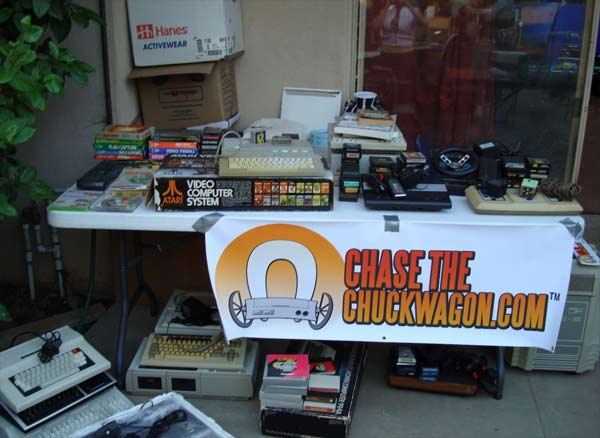 ChaseTheChuckwagon.com raffled off an amazing assortment of vintage gaming items.  The stuff in this photo is just a small fraction of what was available
