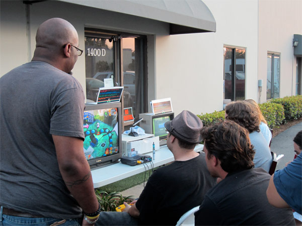 An early shot of the N64 table, which gathered crowds all night long