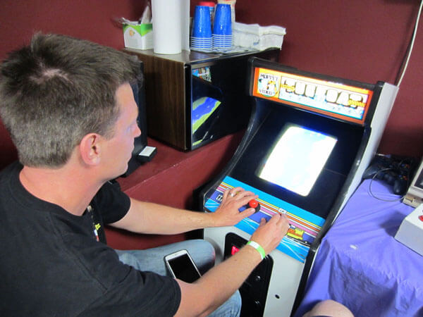 Tugboat is a cute little arcade cabinet for kids, and model tugboat enthusiasts like Mark W. here