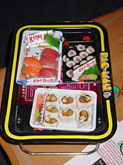 Pac-Man...Sushi... If you come from So-Cal, Sushi's a staple.